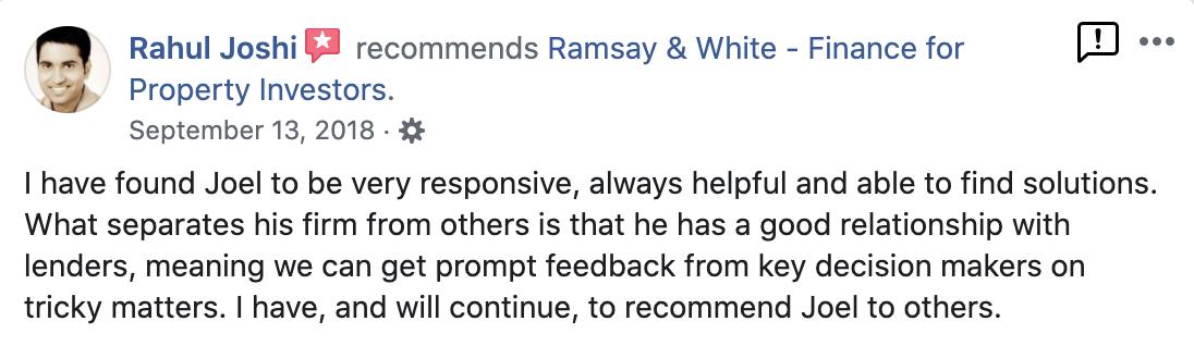 Ramsay & White Property Development Finance